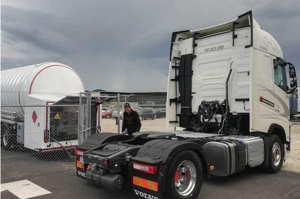 Mobile LNG Stations used by LIDL Switzerland