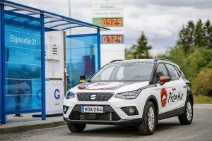 The vehicle used for sustainable delivery: Seat Arona TGI