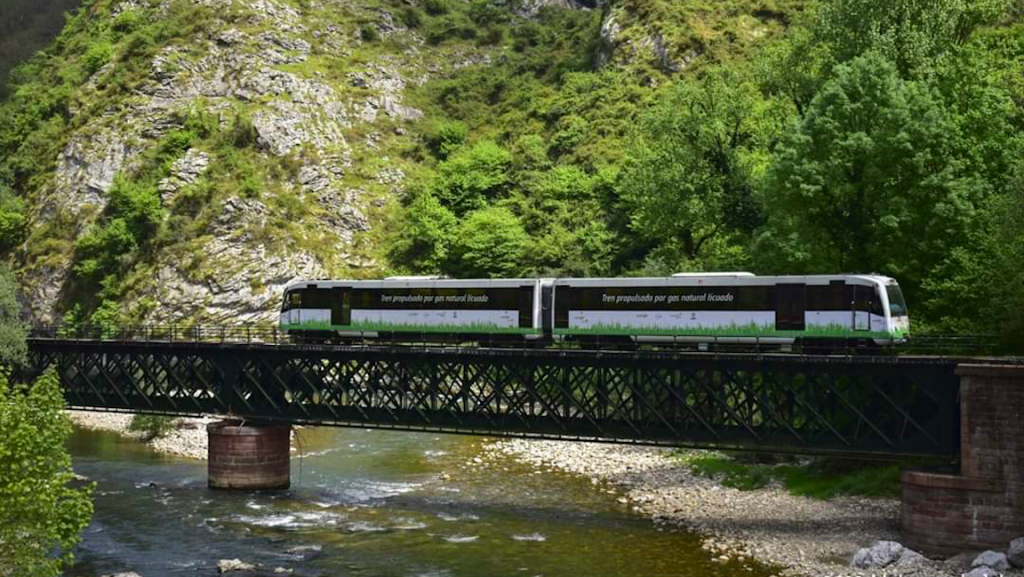 Railway running on sustainable LNG in Europe