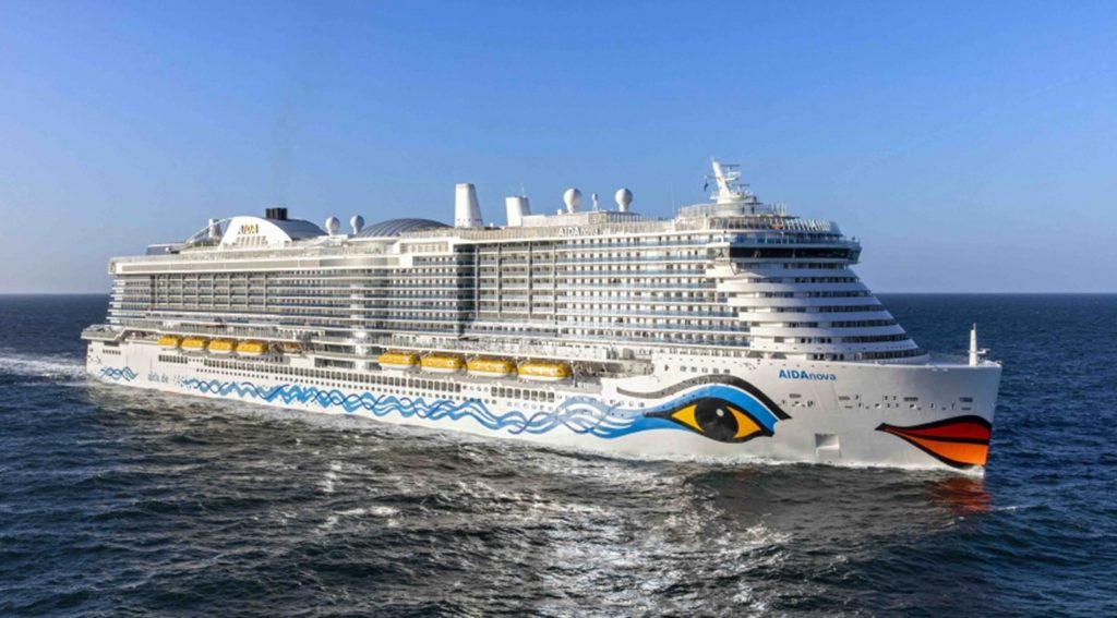 LNG powered cruise ship - Aida Nova