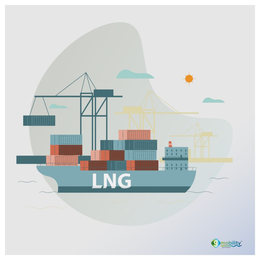 Sustainable maritime transport of goods with LNG