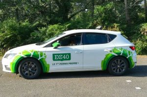 This Landes driving school runs on CNG