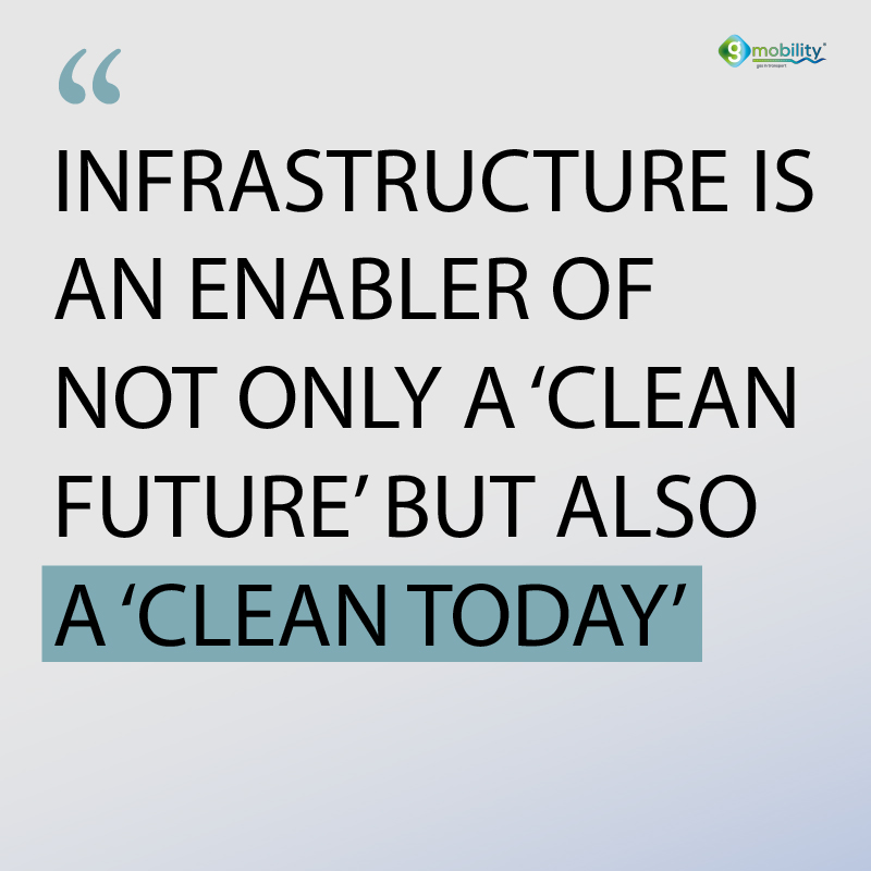 Infrastructure is an enabler of not only a 'clean future' but also a 'clean today'.